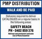PMP DISTRIBUTION WALK AND BE PAID