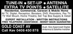 TUNE-IN SET-UP ANTENNA EXTRA TV POINTS SATELLITE Residential, Commercial, Caravan & Mobile Ho...