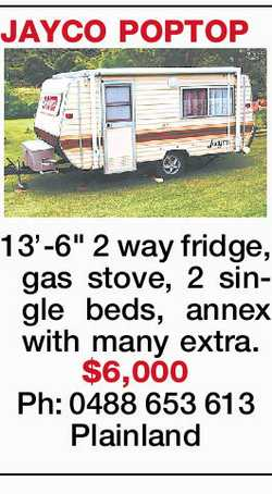 "JAYCO POPTOP 13'-6"" 2 way fridge, gas stove, 2 single beds, annex with many extra. $6,..."