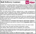 Mail Delivery Contract - Australia Post