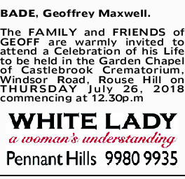 BADE, Geoffrey Maxwell.