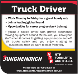 If you are a skilled driver with proven experience moving equipment around Melbourne, you know yo...