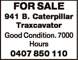 FOR SALE 941 B. Caterpillar Traxcavator Good Condition. 7000 Hours 0407 850 110