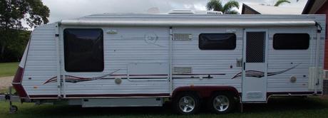 <p> 2008 23ft onroad van, sleeps 2, central ensuite, washing machine, all caravan...