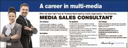 A career in multi-media Why not start right here at Toowoomba's leading media organization, The...