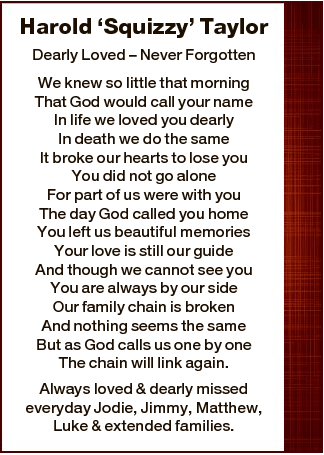 Dearly Loved - Never Forgotten