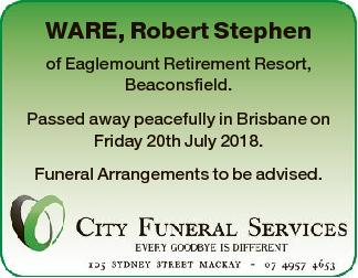 Browsing Death Notices | Tasmania Classifieds | The Mercury
