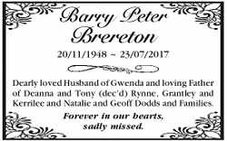 Barry Peter Brereton