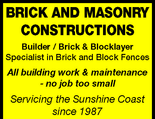BRICK AND MASONRY CONSTRUCTIONS