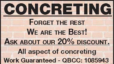 Concreting   Forget the rest   We are the Best!   Ask about our 20% discount.   A...