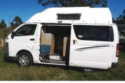 TOYOTA 2008 Hightop Campervan, 4 cyl petrol, manual, RWC, 12-240 V fridge, mw, gas stove, sleeps...