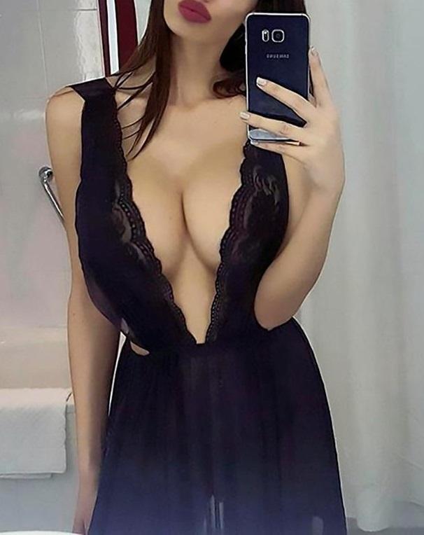 Big cloth in pussy