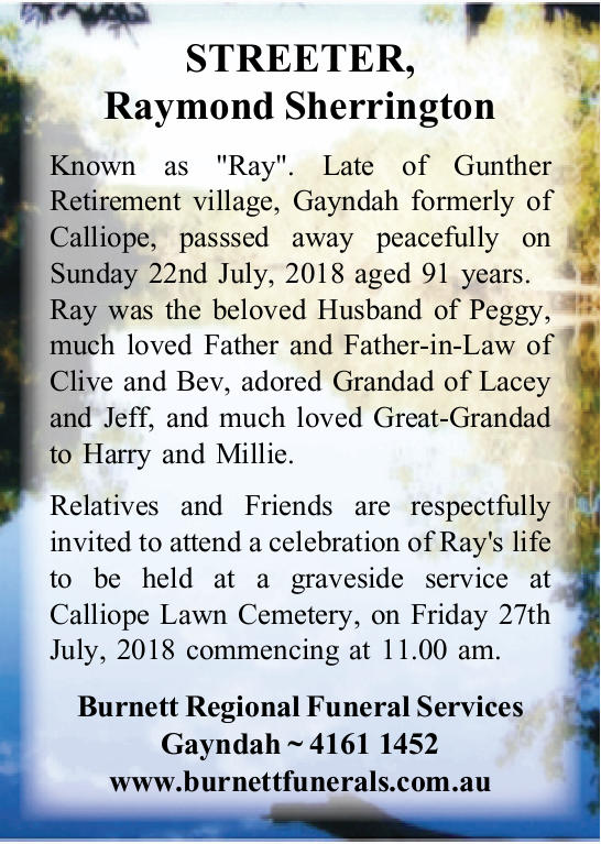 "Known as ""Ray"".