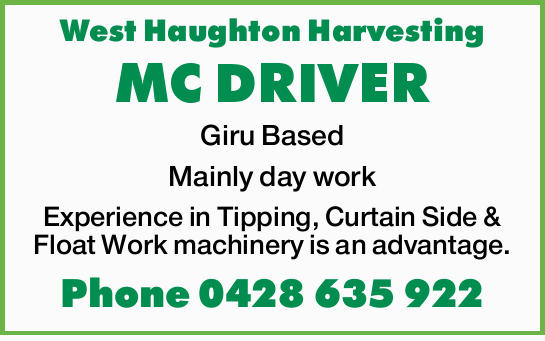 West Haughton Harvesting 