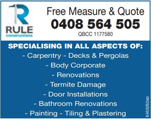 SPECIALISING IN ALL ASPECTS :    Carpentry  Decks & Pergolas  Body Corporate...