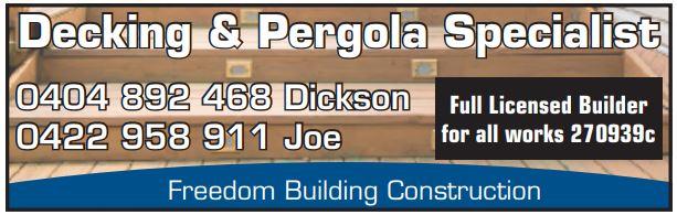 Fully Licenced 270939c   decking & pergola Specialist