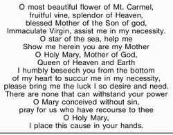 O most beautiful flower of Mt. Carmel, fruitful vine, splendor of Heaven, blessed Mother of t...