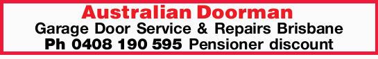 Garage Door Service & Repairs Brisbane   Ph 0408190595   Pensioner discount