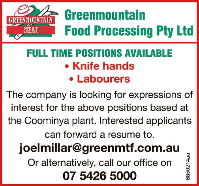 Greenmountain Food Processing Pty Ltd