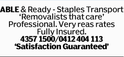 ABLE & Ready - Staples Transport