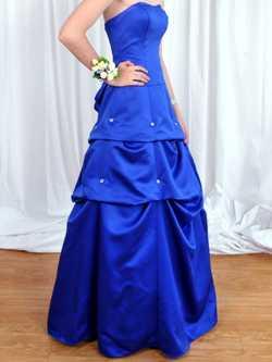 Blue, Strapless, Full-Length Designer Dress, Sz 10, As New Cond $80 Ph:0407128809