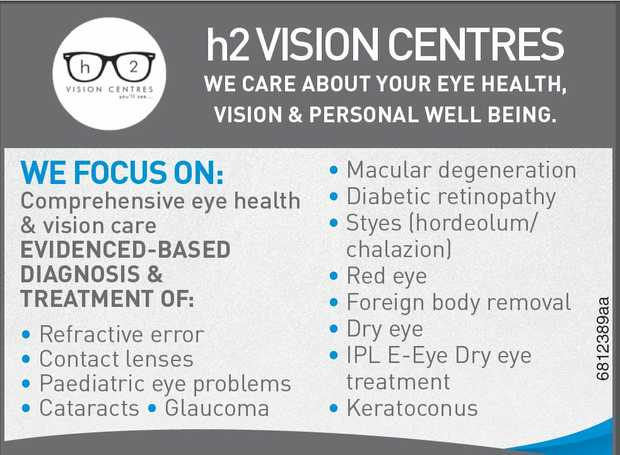 We care about your eye health, vision & personal well being