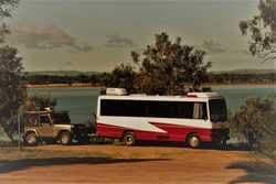 145A 4 cyl turbo diesel, sleeps 2, reverse cycle aircon, 3 burner cooktop, microwave, 12/240 fridge...