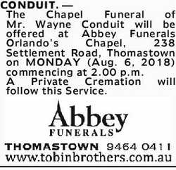 Browsing Funeral Notices | NSW & QLD Classifieds | The Advertiser