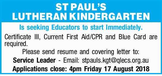 ST PAUL'S LUTHERAN KINDERGARTEN