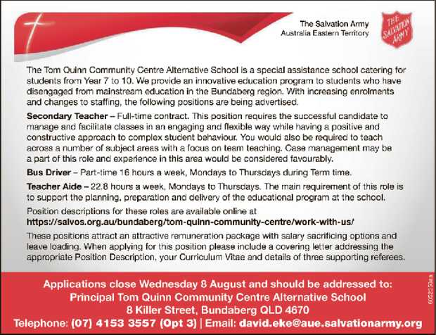 The Tom Quinn Community Centre Alternative School is a special assistance school catering for stu...