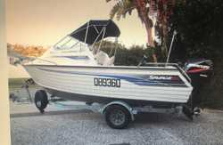 06' trailer,boat, motor. 115 Mercury optimax vgc. Many extras