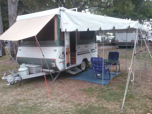 Towed easily. Tare 796 kg ATM 1096 kg. Reg till 05/19. Single beds and plenty of storage. Awning. Ne...