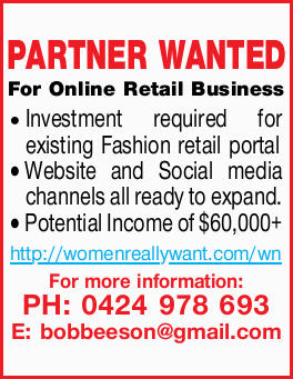 For Online Retail Business Investment required for existing Fashion retail portal Website and Soc...