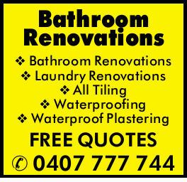 Bathroom Renovations  Laundry Renovations  All Tiling  Waterproofing ...
