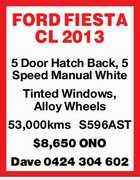 FORD FIESTA CL 2013