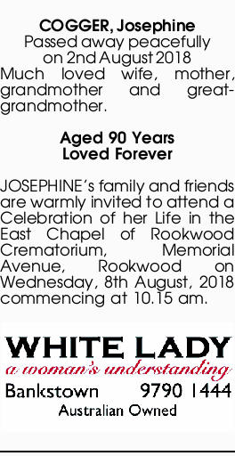 Browsing Funeral Notices | Melbourne Classifieds | Herald Sun
