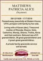 MATTHEWS PATRICIA ALICE
