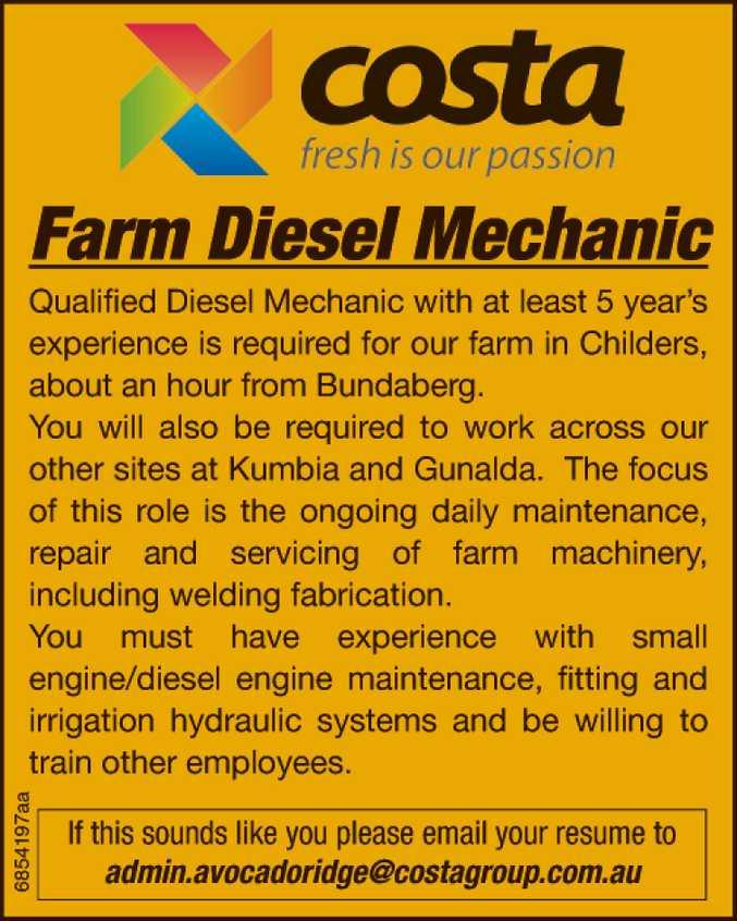 Farm Diesel Mechanic