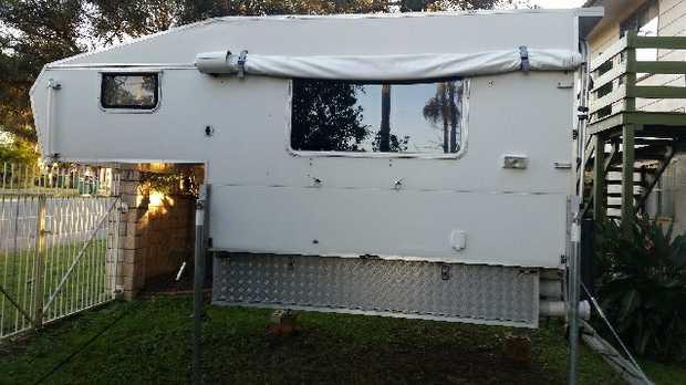 Fair condition, overhead sleeper,   Convection oven, fridge & freezer,   water tank,...