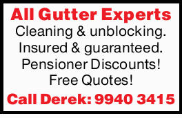 All Gutter ExpertsCleaning & unblocking. Insured & guaranteed. Pensioner Discounts! Free...
