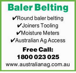 Round baler belting Joiners Tooling Moisture Meters Australian Ag Access