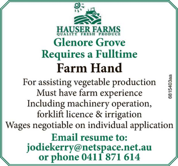 Farm Hand