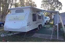 JAYCO DISCOVERY 17.55, pop top, 2009, tandem, show/toil, isl dble bed, 3-way fridge, elect/gas HW...
