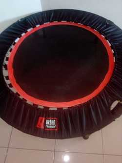 Exercise trampoline.Comes with 12 workout dvd's.Hardly used