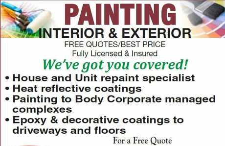 "<p align=""LEFT"" dir=""LTR""> <span lang=""EN-AU"">Painting- Interior and Exterior</span> </p>"