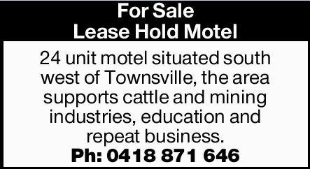 For Sale Lease Hold