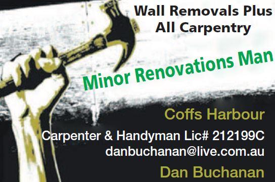 Wall Removals Plus   All Carpentry   Coffs Harbour   Carpenter & Handyman Lic# 21...