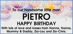To our handsome little man 