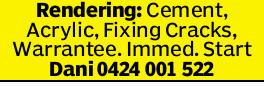Cement  Acrylic  Fixing Cracks  Warrantee  Immediate Start   Call for...