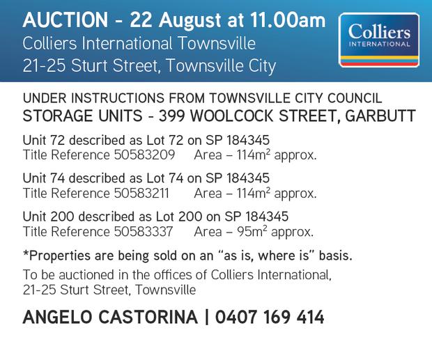 AUCTION - 22 August at 11.00am   Colliers International Townsville   21-25 Sturt Street,...
